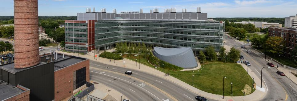 Rooftop view of the Biomedical Science Research Building