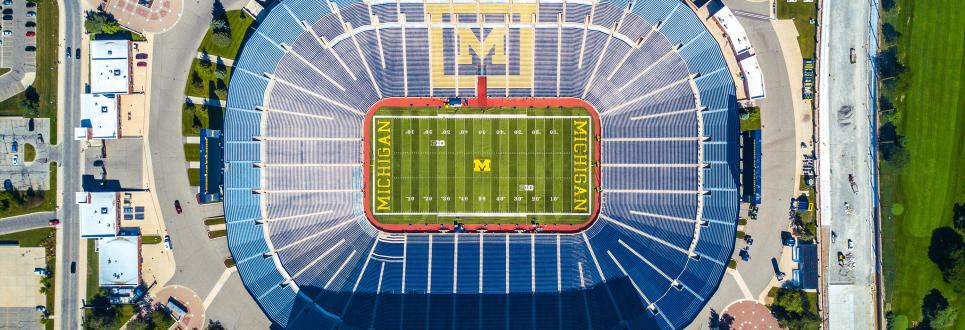 Aerial view of Michigan Stadium